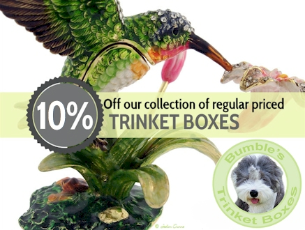 10% off all regular priced trinket boxes.