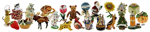 Beautiful hand enameled trinket boxes from Bumble's Trinket Boxes!
